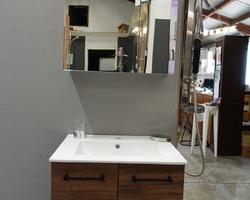 325,€  -->Meuble 60x46cm + Lavabo + Armoire de toilette EXPO