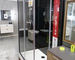 500,€  -- >Cabine Douche complète BLACK HAPPY 120x80 Carrée & 1/4Rond  EXPO