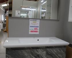 300,€  -- >MARBLE Meuble 100x46cm + Plan Lavabo + Miroir