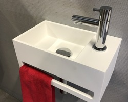 299,€  --> CORIAN - Lave-mains 35,5x20,5x16cm (hors robinetterie)