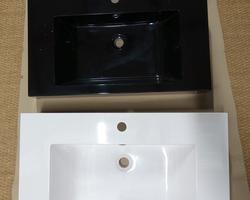 100,€ -- > LAVABO NOIR ET BLANC 80x46x12cm