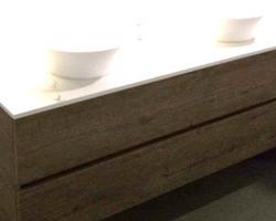 RIHO CESIO 160cm - SOUS MEUBLE DECOR BOIS AVEC TABLETTE EN DEKTON