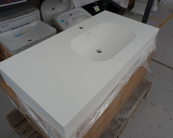 NEW !!! PLAN LAVABO EN SOLIDSURFACE À SUSPENDRE